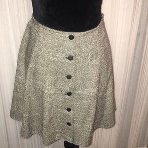 Vintage Express Front Button Mini Skirt